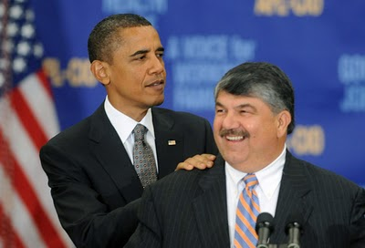 Two leading D.S.A. associates, Barack Obama and Dick Trumka