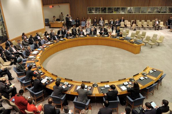 The United Nations Security Council meet