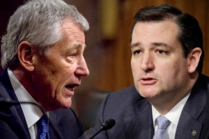 Chuck Hagel, Ted Cruz