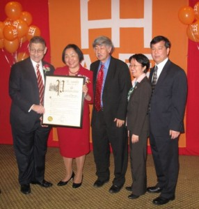Sheldon Silver, Jean Quan, Floyd Huen, Margaret Chin, Christopher Kui, AAFE Award dinner, March, 2011
