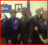Eddie Bernice Johnson, Marc Veasey, Gene Lantz, May 3, 2013,