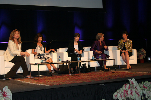 Arianna Huffington, Ashley Judd, former New Zealan marxist Prime Minister Helen Clark, Michelle Bachelet, Valerie Jarrett,,Women Deliver conference,   Washington, DC, June 7, 2010