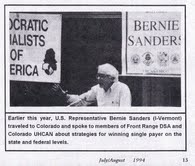 Sanders, DSA conference Colorado, 1994