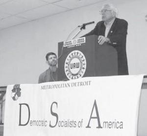 Bernie Sanders, and Detroit DSA leader David Green, June 25th, 2006
