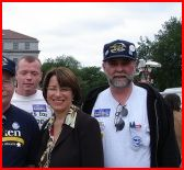 Lavonne Froemke left, Amy Klobuchar second to right, Mark Froemke right