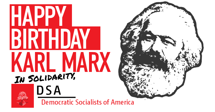 "Democratic Socialists of America wish Karl Marx a ""Happy Birthday"""