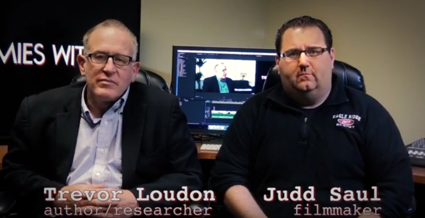 Trevor Loudon with Director Judd Saul (YouTube screenshot courtesy Judd Saul)