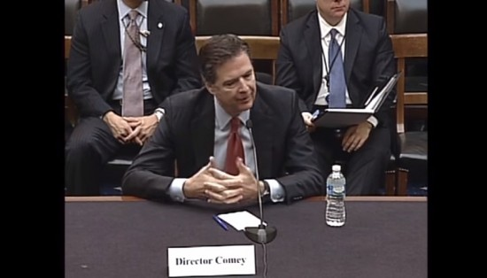 FBI Director James Comey testifies during House Judiciary Hearing via YouTube [screenshot]