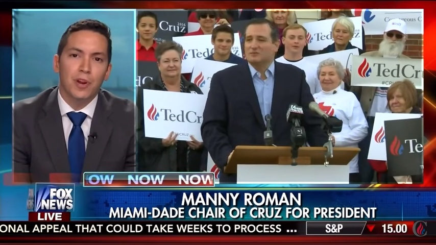 Manny Roman on Fox Business with Neil Cavuto explains his endorsement for Senator Ted Cruz