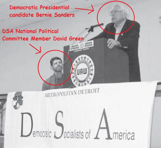 David Green with Bernie Sanders