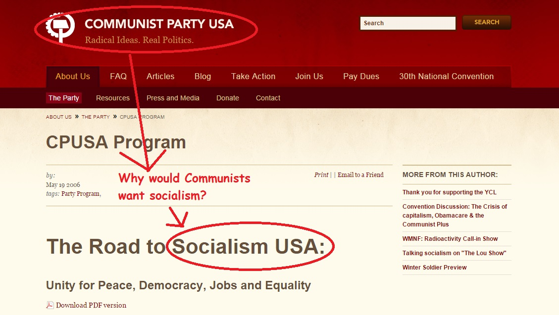 Communist Party wants Socialism