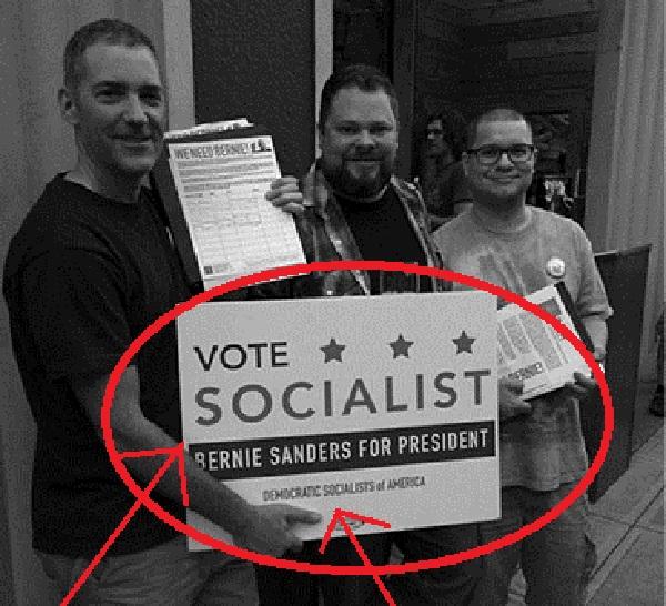 Dustin Guastella DSA Bernie is a socialist1_Portland DSA