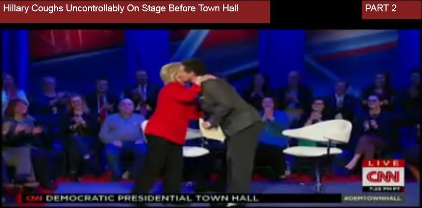Hillary Clinton kissed by CNN coorespondant Chris Cuomo before January Town Hall