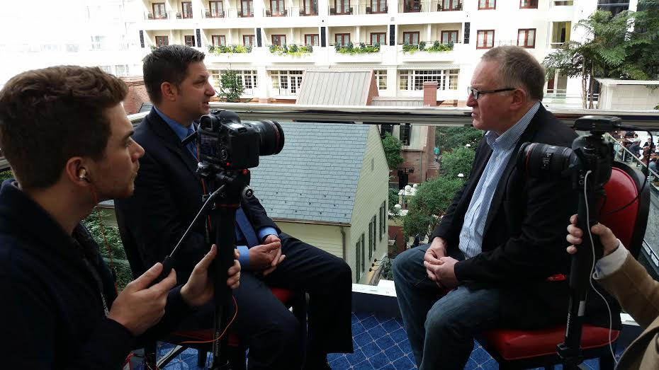 Trevor filming interview at CPAC 2016