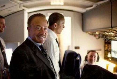 Terry Bean on Air Force One via wweek.com