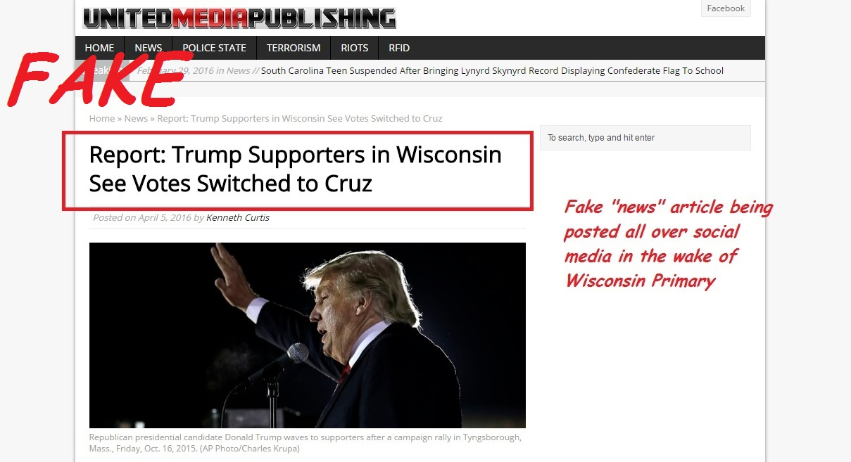 "Fake pro-Trump ""news"" site"