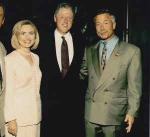 Terry Bean with Clintons via San Francisco Chronicle