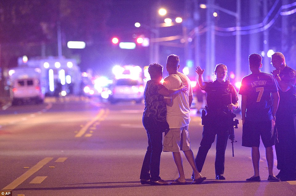 People wait anxiously for news after Pulse nightclub terror attack in Orlando