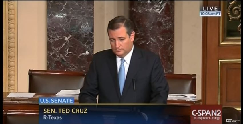 Ted Cruz on Democrats' 'ridiculous' gun control filibuster