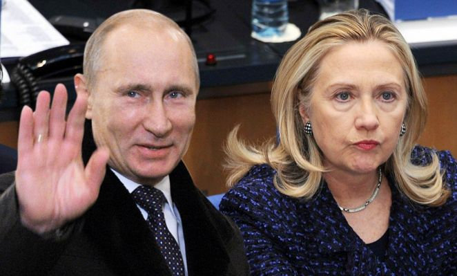 Image result for Putin and hillary