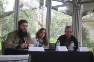 Hassan Shibly CAIR left, Mick Kelly right, Tampa 2015